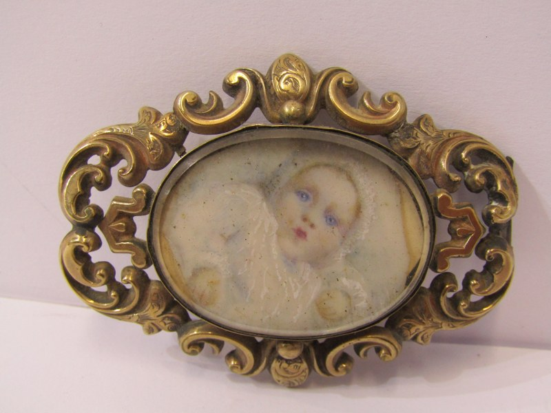 """PERIOD OVAL PORTRAIT MINIATURE, """"Young Lady with coral necklace - Alice Cuppage"""": also Victorian - Image 4 of 6"""