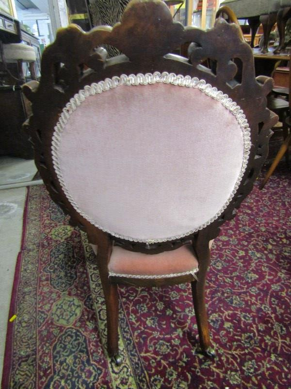 VICTORIAN SPOONBACK NURSING CHAIR, shell and foliate carved surround with serpentine fronted seat - Image 2 of 2