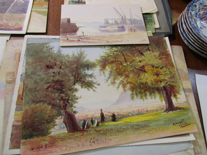 COLONEL H.H. HART, collection of 19 unframed watercolours, mainly depicting Indian landscapes - Image 5 of 6