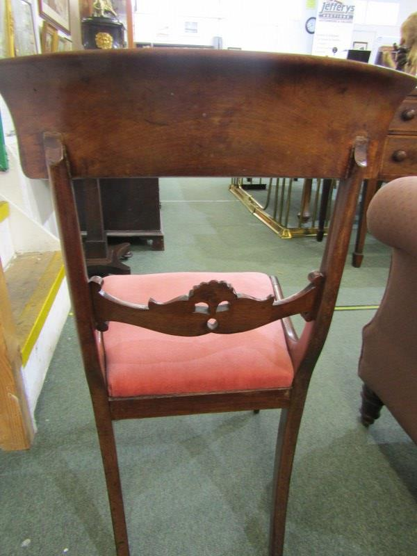EARLY VICTORIAN DINING CHAIRS, set of 4 mahogany bar back dining chairs, drop-in seats with inverted - Image 3 of 3
