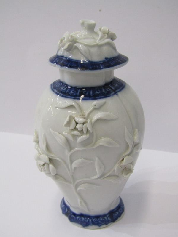 "ORIENTAL CERAMICS, floral encrusted 5"" lidded vase (rim damage) Famille Verte small hor d'oeuvres - Image 2 of 19"
