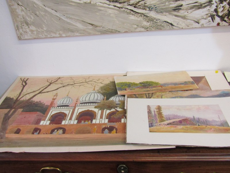 COLONEL H.H. HART, collection of 12 unframed mainly Indian topographical watercolours
