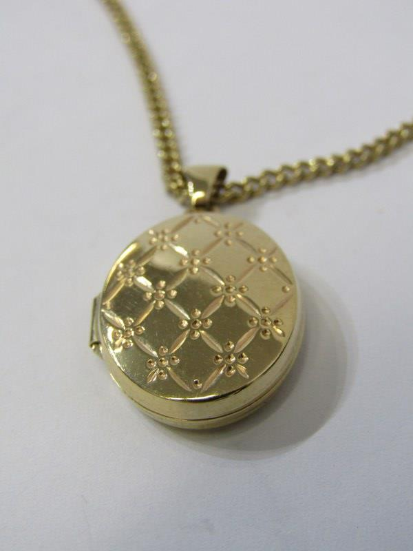 9ct YELLOW GOLD LOCKET on 9ct yellow gold curb link necklace, combined weight of approx 8.4 grams - Image 2 of 4