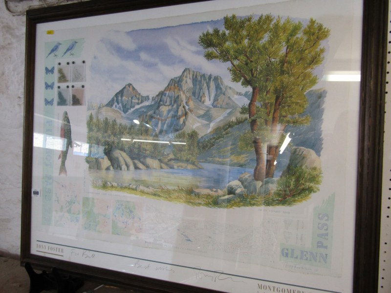 """TONY FOSTER, pencil signed colour print """"Pinchot Pass"""", 24"""" x 40"""" - Image 2 of 3"""