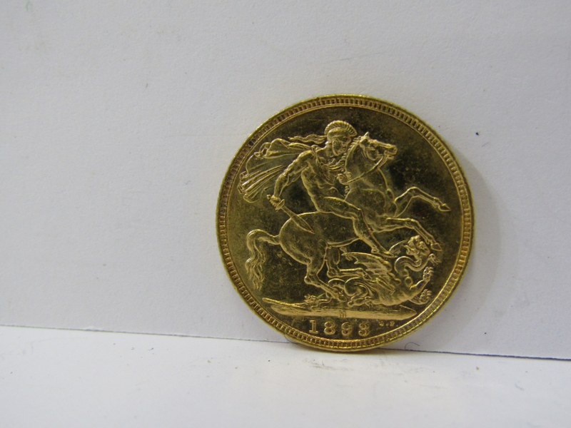 QUEEN VICTORIA GOLD SOVEREIGN, 1893 Melbourne Mint - Image 2 of 2