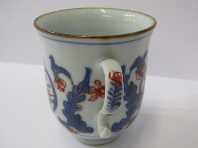 ORIENTAL CERAMICS, pair of Chinese Imari tea cups, together with pair of Chinese export Lotus and - Image 2 of 3