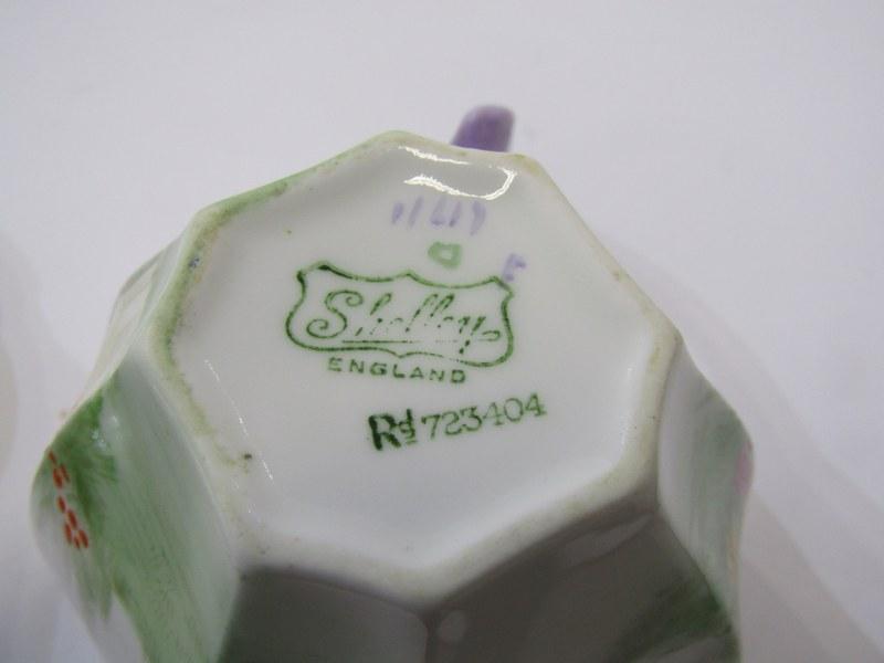 SHELLEY TEAWARE, Cabaret set of octagonal tea pot, cup & saucer, sugar bowl, cream jug and stand, - Image 4 of 4