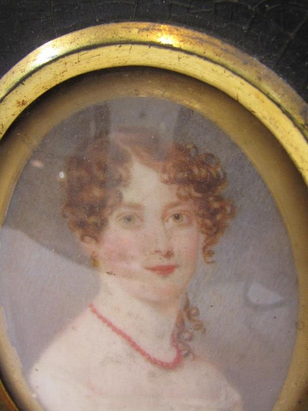 """PERIOD OVAL PORTRAIT MINIATURE, """"Young Lady with coral necklace - Alice Cuppage"""": also Victorian - Image 2 of 6"""