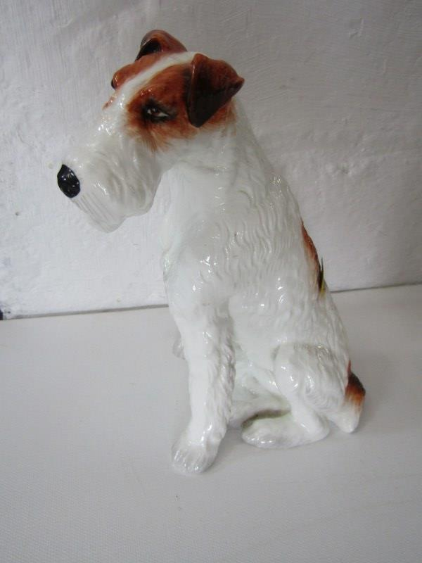 """ROYAL DOULTON SEATED BULLDOG, also limited edition seated Terrier figure, 7"""" height and Lladro Monk, - Image 2 of 7"""