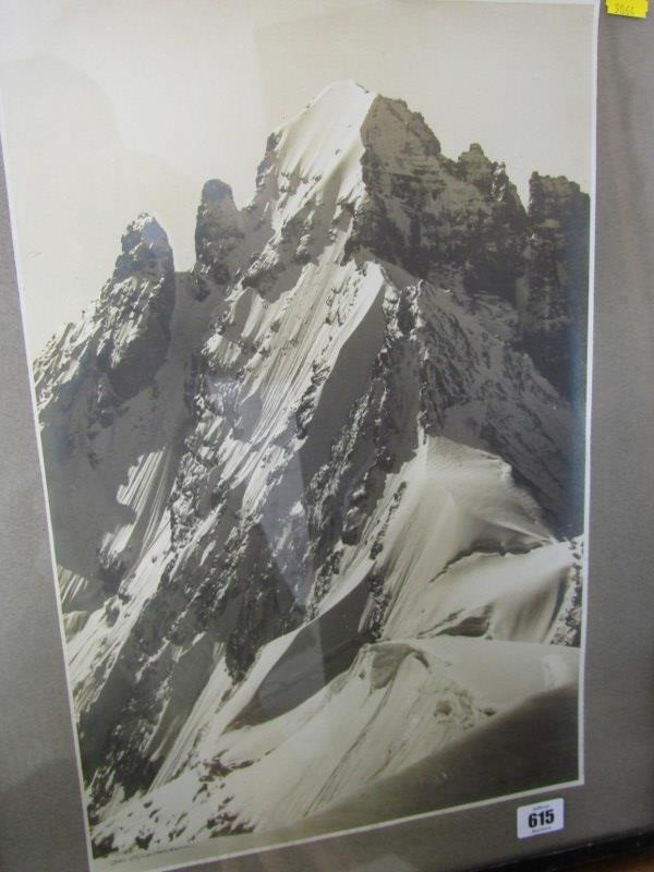 "PHOTOGRAPH, signed Alpine photograph ""Das Espaltenhorn"", 17.5"" x 11.5"""