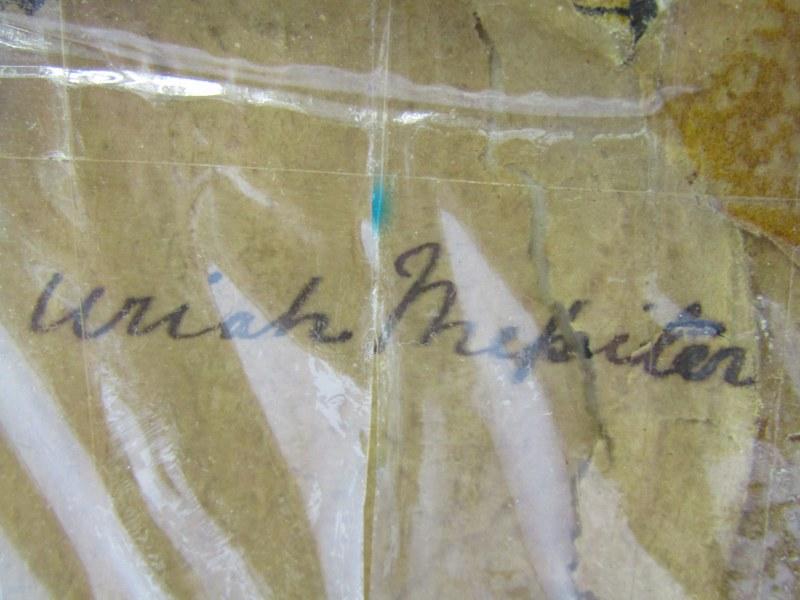 "OVAL PORTRAIT MINIATURE ""Uriah Mepiton"" 2"" height - Image 3 of 3"