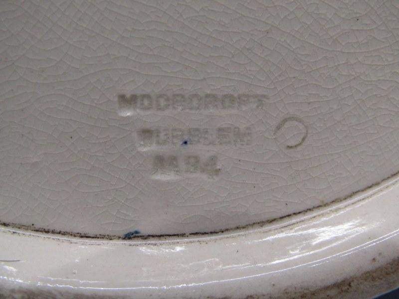"""MOORCROFT, powder blue ground large 16"""" oviform vase - Image 2 of 2"""