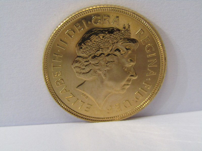 GOLD SOVEREIGN, 2002 Shield back high grade/mint