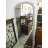"""VICTORIAN OVER MANTEL, narrow domed top over mantel, painted frame (requires restoration), 62"""""""
