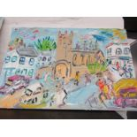 "S HAYDEN, painting on canvas ""St Marys Church, Penzance"", 20"" x 30"""