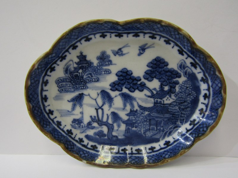 """ORIENTAL CERAMICS, NanKing lobed edge spoon tray, also Ming-style 4.5"""" dia, small bowl decorated - Image 6 of 10"""