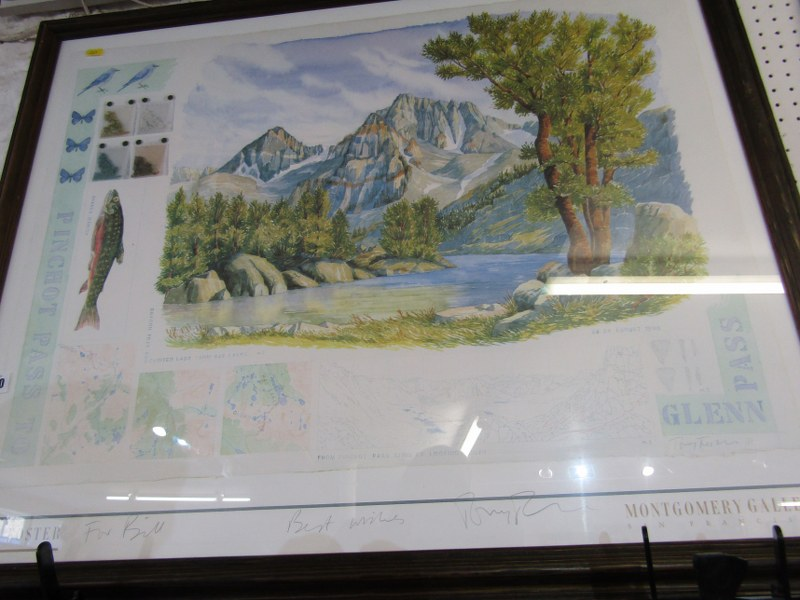 """TONY FOSTER, pencil signed colour print """"Pinchot Pass"""", 24"""" x 40"""""""