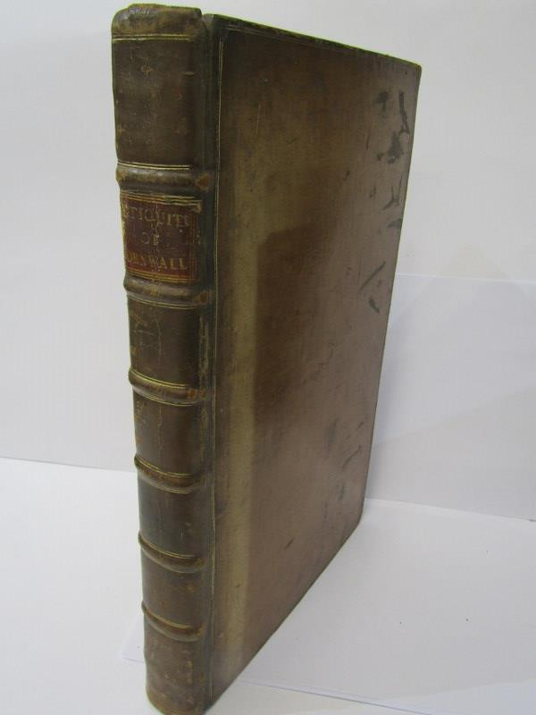 """WILLIAM BORLASE """"Observation On the Antiquities... Of The County Of Cornwall"""", 1754, in period"""