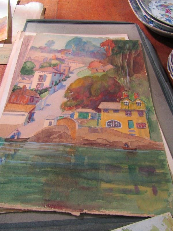 COLONEL H.H. HART, collection of 19 unframed watercolours, mainly depicting Indian landscapes - Image 4 of 6