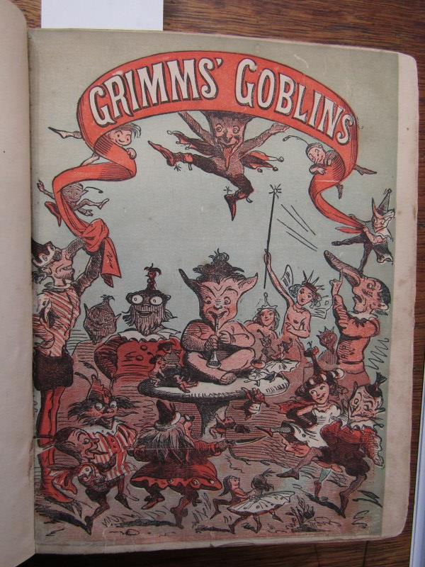 "GRIMMS BROTHERS ""Grimms Goblins"" in original green cloth re-backed, circa 1868"