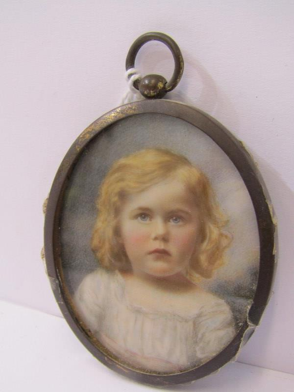 """PERIOD OVAL PORTRAIT MINIATURE, """"Young Lady with coral necklace - Alice Cuppage"""": also Victorian - Image 6 of 6"""