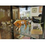 BESWICK ANIMALS, collection of Beswick dogs, horses and birds (several with damage), together with