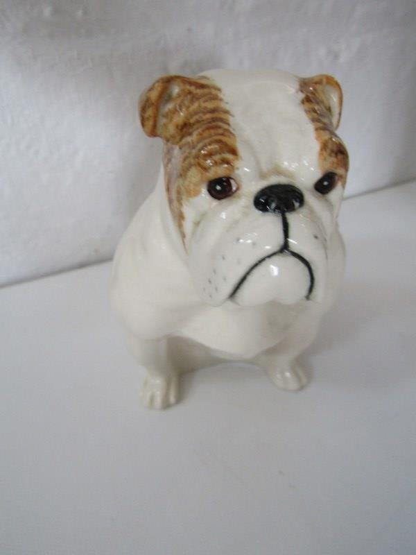 """ROYAL DOULTON SEATED BULLDOG, also limited edition seated Terrier figure, 7"""" height and Lladro Monk, - Image 4 of 7"""
