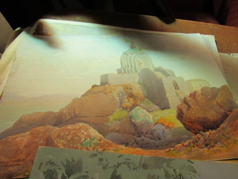 COLONEL H.H. HART, collection of 19 unframed watercolours, mainly depicting Indian landscapes - Image 2 of 6