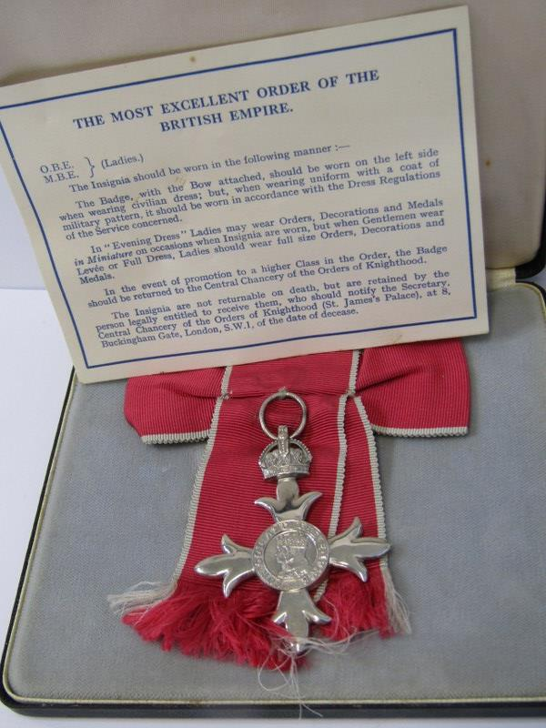 MBE, MEDAL IN ORIGINAL BOX, with paperwork