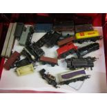 MODEL RAILWAY, OO guage Dock Authority locomotive, 2 other and a collection of rolling stock (