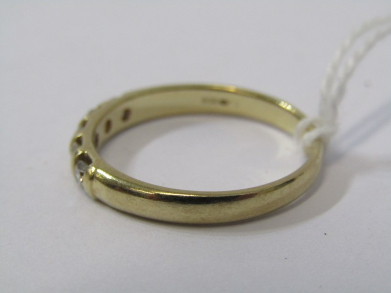 9ct YELLOW GOLD 5 STONE ETERNITY STONE RING, well matched brilliant cut tortion set diamonds in - Image 2 of 2