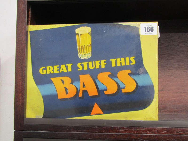 "ADVERTISING, 'Great Stuff This Bass' metal plaque, 7"" x 10"""