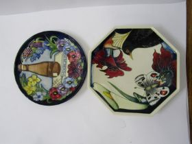 """MOORCROFT, signed limited edition 1997 Commemorative plate, 8.75"""" dia, together with Moorcroft"""