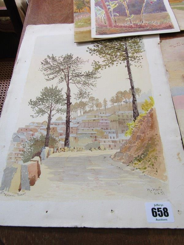 COLONEL H.H. HART, collection of 19 unframed watercolours, mainly depicting Indian landscapes - Image 6 of 6