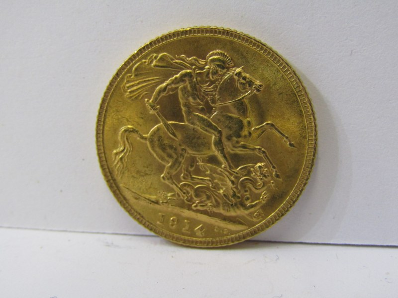 GOLD SOVEREIGN, 1914 George V high grade - Image 2 of 2