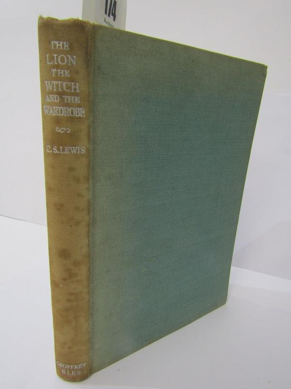 FIRST EDITION, 'The Lion, The Witch and The Wardrobe' 1950 first edition by C. S. Lewis, original