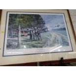 """GEOFF NUTKINS, pencil signed colour print """"Thunder in the Sky - J V 44 - Ainrang, 29th April"""