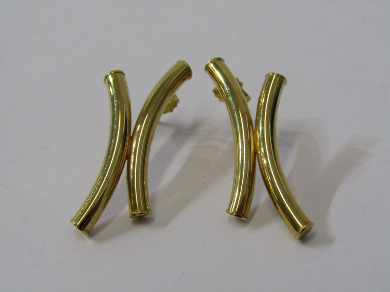 PAIR 9ct YELLOW GOLD STUD BACK EARRINGS