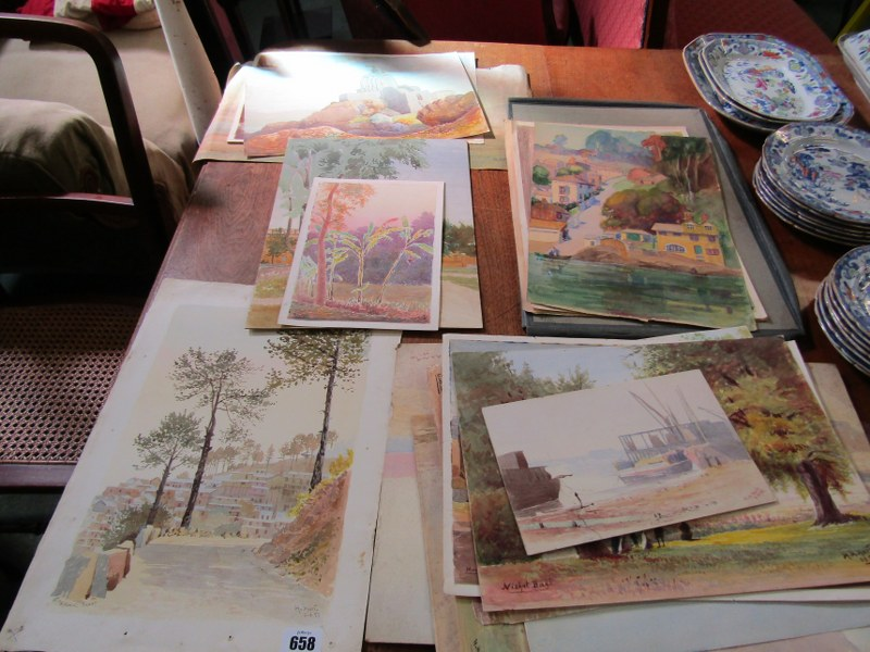 COLONEL H.H. HART, collection of 19 unframed watercolours, mainly depicting Indian landscapes