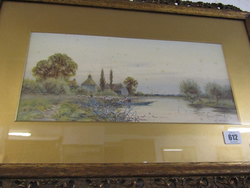 "ROBERT WINTER, pair of signed watercolours ""Near Sudbury on the Stour"" and ""South Bradon, - Image 2 of 4"