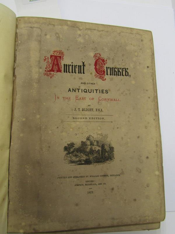 """CORNISH REFERENCE, J.T. Blight """"Ancient Crosses and other Antiquities in the East of Cornwall"""", - Image 2 of 2"""