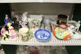 Staffordshire figures and other decorative china.