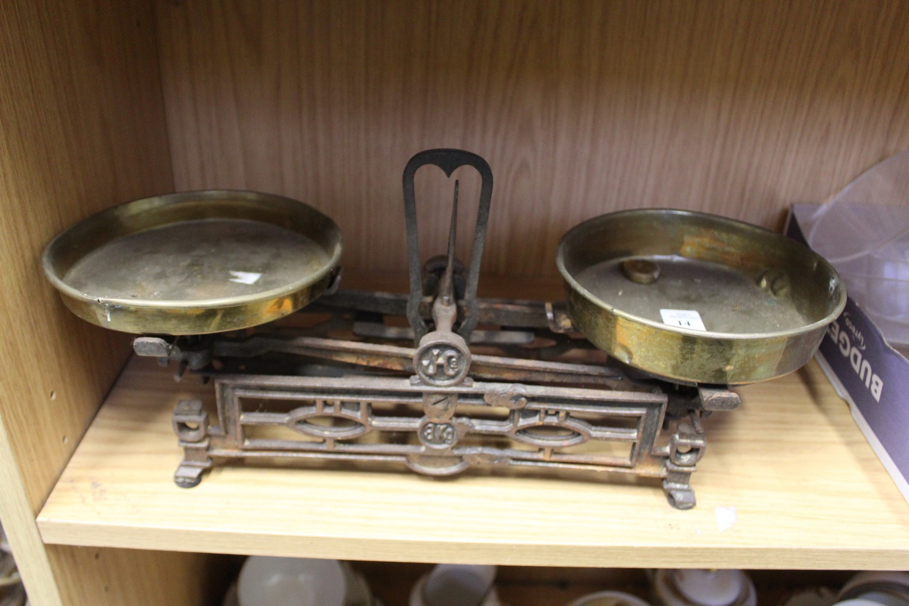 Weighing scales.