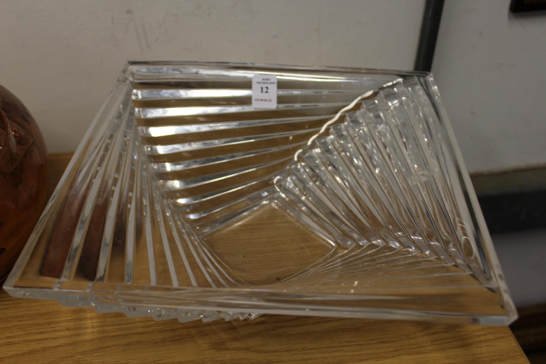 A stylish cut glass bowl. - Image 2 of 2
