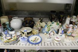 A quantity of decorative and ornamental china.