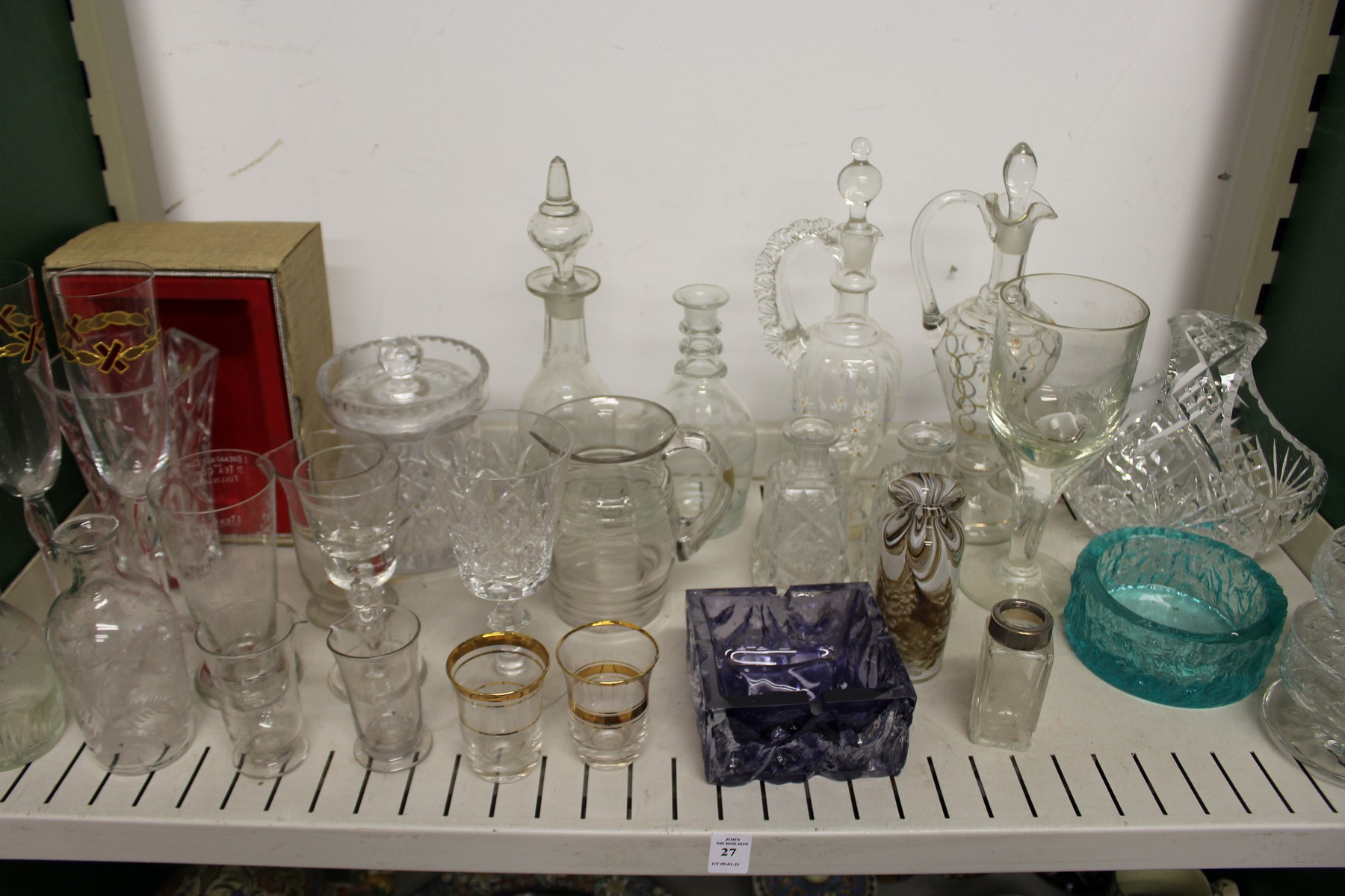 Decorative and household glassware.
