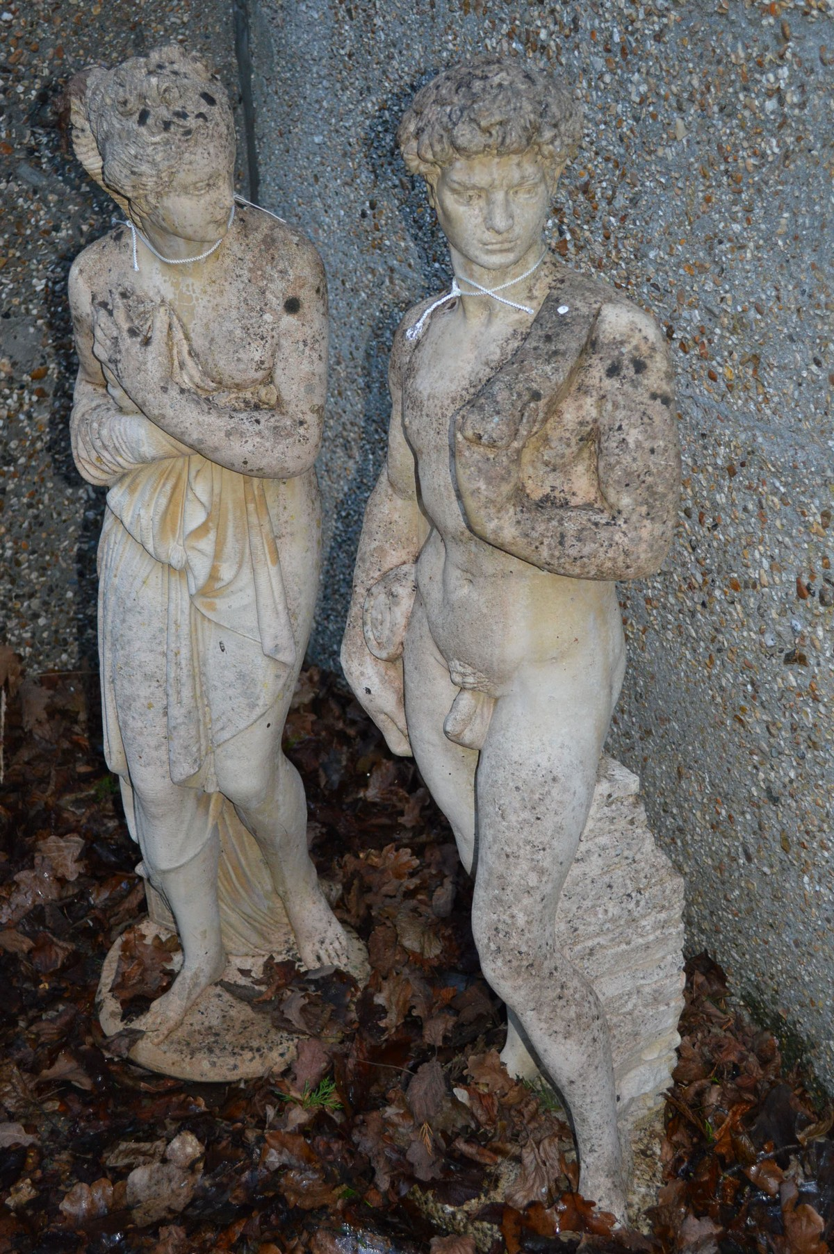A good pair of neo-classical style garden figures.