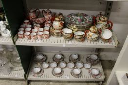 A quantity of Japanese and Chinese tea services, dinner plates etc.