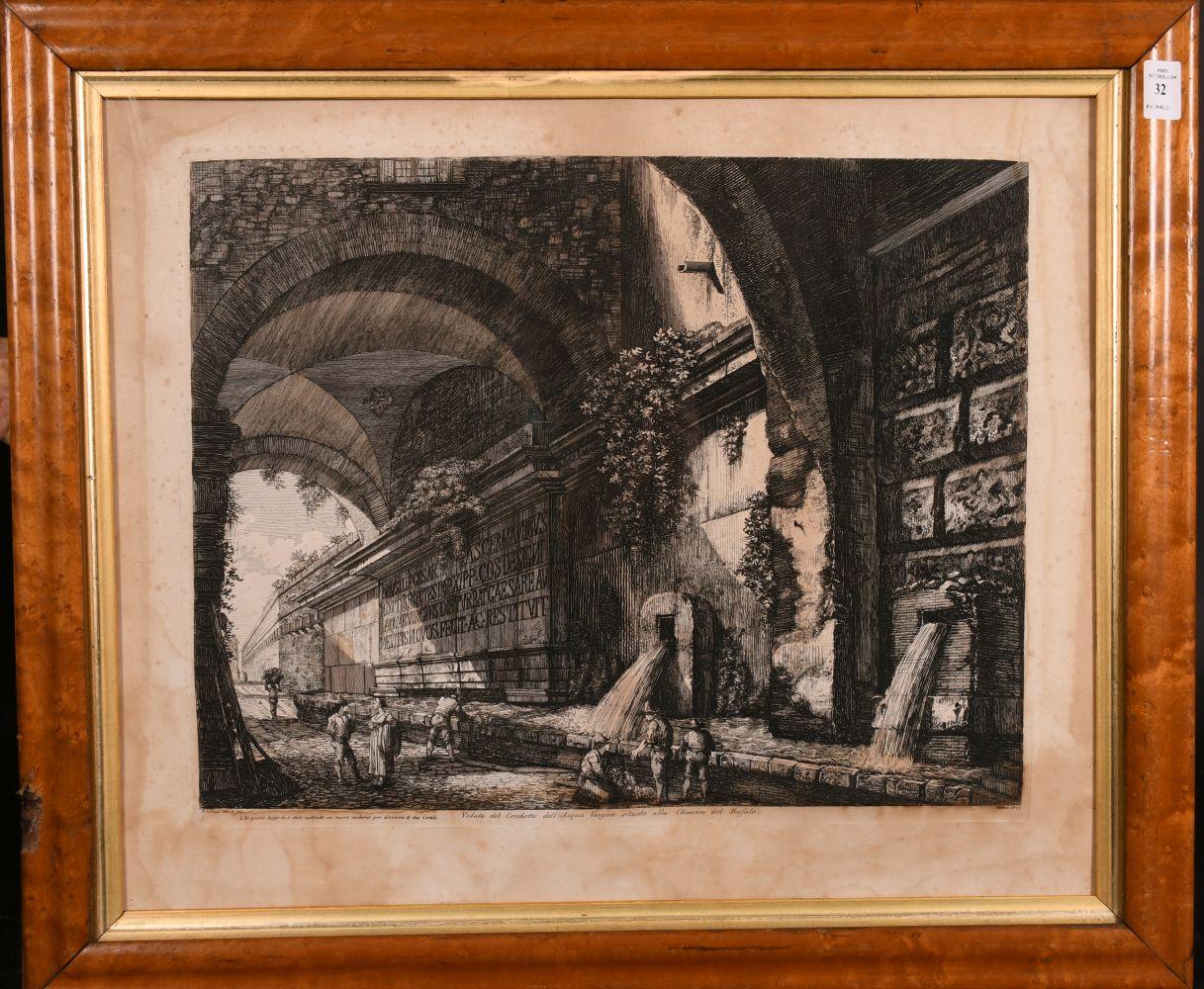 """Luigi Rossini (1790-1857) Italian, 'Veduta del Condotto Dell Acqua', engraving, circa 1822, 14"""" x - Image 2 of 3"""