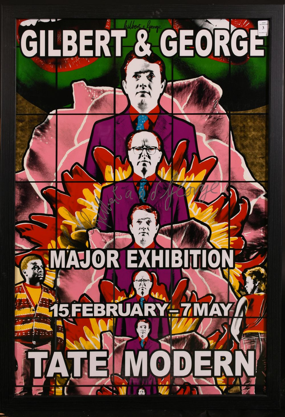 """Gilbert & George, A signed exhibition poster from the Tate Modern, 30"""" x 20"""". - Image 2 of 4"""